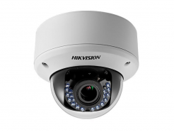 DS-2CE56D5T-AVPIR3, venkovní antivandal dome HD TVI kamera 1080p, f2.8-12mm, IR 40m, WDR, Hikvision