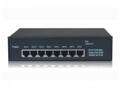 RX-PSE808G, 8/7 PoE switch, 7x PoE port (Gigabit), 1x Up/Link port (Gigabit), PoE max. 107.8 W