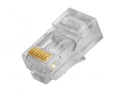 RX-RJ45C, standardní konektor RJ-45 pro datový kabel UTP, 8 kontaktů, CAT.5E, 1000BASE-T, RXTEC