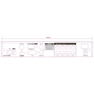 Kamerový set 1x AVTECH NVR AVH1109 a 8x 5MPX IP Dome kamera AVTECH DGM5406ASE + 8x Kabel UTP 1x RJ45 - 1x RJ45 Cat5e 15m!