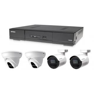 Kamerový set 1x AVTECH DVR DGD1005AV, 2x 2MPX Dome kamera AVTECH DGC1004XFT a 2x 2MPX Bullet kamera AVTECH DGC1105YFT