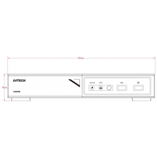Kamerový set 1x AVTECH NVR AVH1109 a 8x 2MPX Motorzoom IP Dome kamera AVTECH DGM2443SVSE + 8x Kabel UTP 1x RJ45 - 1x RJ45 Cat5e 15m!