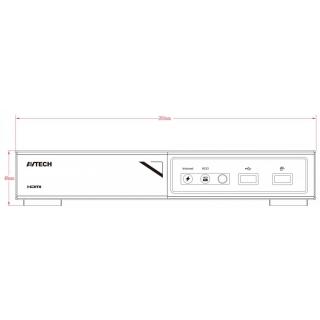 Kamerový set 1x AVTECH NVR AVH1109 a 8x 2MPX IP Bullet kamera AVTECH DGM2103SV