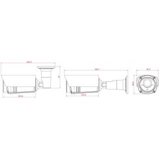 Kamerový set 1x AVTECH NVR AVH1109, 4x 5MPX IP Bullet kamera AVTECH DGM5606 a 4x 2MPX IP Dome kamera AVTECH DGM5406ASE + 8x Kabel UTP 1x RJ45 - 1x RJ45 Cat5e 15m!