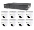 Kamerový set 1x AVTECH DVR DGD1009AV a 8x 5MPX Dome kamera AVTECH DGC5205TSE