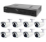 Kamerový set 1x AVTECH NVR AVH1109 a 8x 5MPX IP Bullet kamera AVTECH DGM5606 + 8x Kábel UTP 1x RJ45 - 1x RJ45 Cat5e 15m!