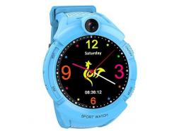 Detské hodinky s GPS lokátorom a fotoaparátom CEL-TEC GW600 Blue