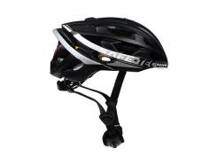 Cyklistická inteligentná bluetooth prilba Safe-Tec TYR 3 Black-Silver XL (61cm - 63cm)