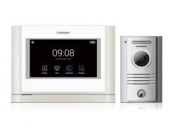 Commax CDV-704MAD biely/DRC-40KHD, sada palcového handsfree AHD videotelefónu a kovovej dverovej stanice
